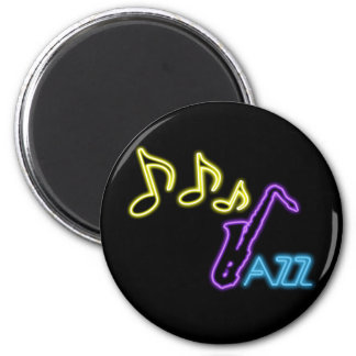 Neon Jazz Bar Sign Magnet