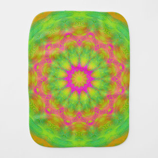 Neon Kaleidoscope Burp Cloth