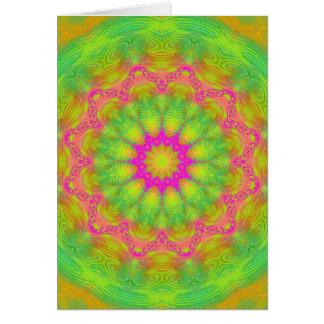 Neon Kaleidoscope Card