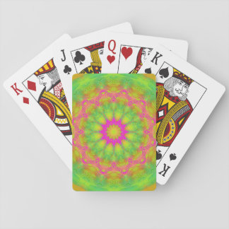 Neon Kaleidoscope Playing Cards