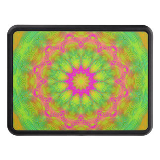 Neon Kaleidoscope Trailer Hitch Cover