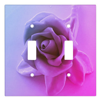 Neon Lavender Pink Rose Girly Hombre bdroom Decor Light Switch Cover