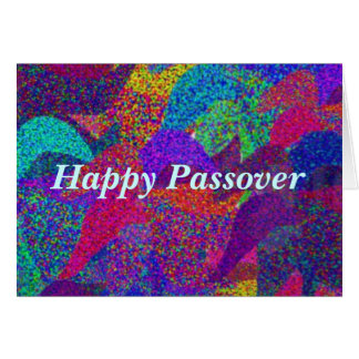 Neon Leaves Happy Passover Card