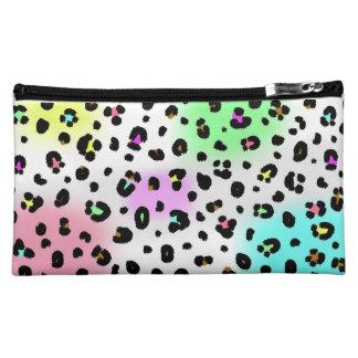 Neon Leopard Print Cosmetics Bag