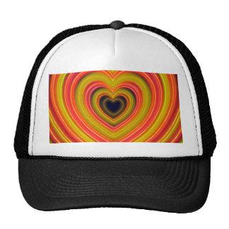 Neon Lighted Girly Heart Design Hats