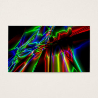Neon Lightning Business Card
