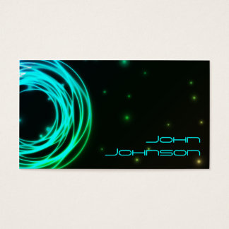 Neon Lights circles business card