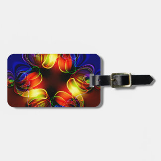 Neon Lights Fractal Luggage Tag
