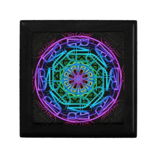 Neon Lights Mandala Design Gift Box