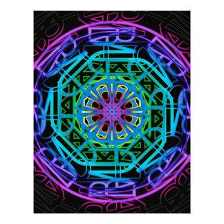 Neon Lights Mandala Design Letterhead