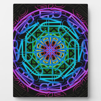 Neon Lights Mandala Design Plaque
