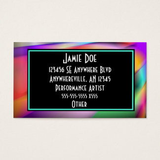 Neon Lights Retro Business Card