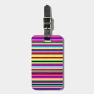 Neon Lights Stripes Luggage Tag