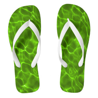 Neon Lime Green Swimming Pool Flip Flops