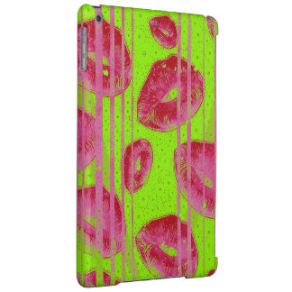 Neon Lime Red Lips iPad Air Case