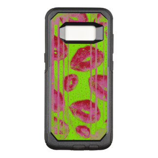 Neon Lime Red Lips OtterBox Commuter Samsung Galaxy S8 Case