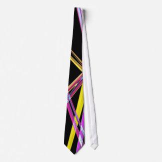 neon lines tie