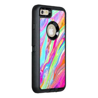Neon Liquid Color OtterBox Defender iPhone Case