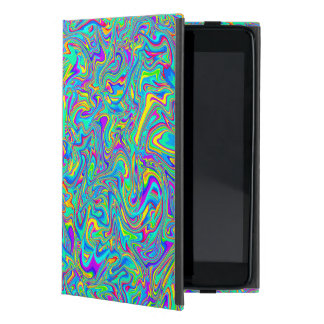 Neon Liquid Wet Paint Swirls Case For iPad Mini