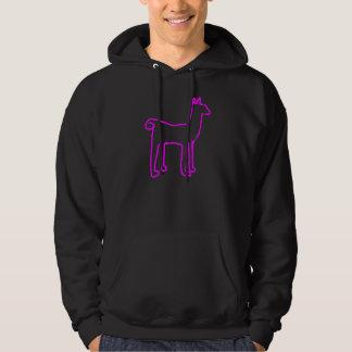 neon llama hoodie