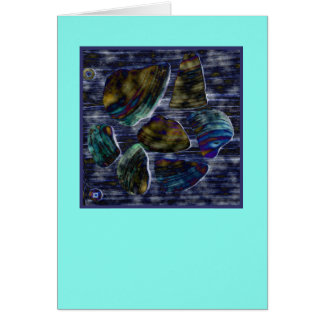 Neon look seashells (note card) card