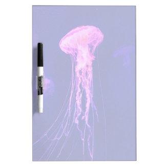 Neon Luminous Jellyfish Dry Erase Board