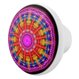 Neon Medallion Ceramic Knob