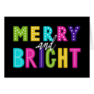 Neon Merry and Bright Card