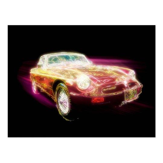 Neon MG - Return of the Retro Postcard