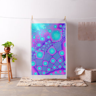 Neon Molecules Psychedelic Fractal Fabric
