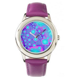 Neon Molecules Psychedelic Fractal Watch