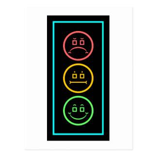 Neon Moody Stoplight Postcard