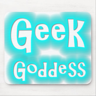 Néon Mousepad de déesse de geek Tapis De Souris