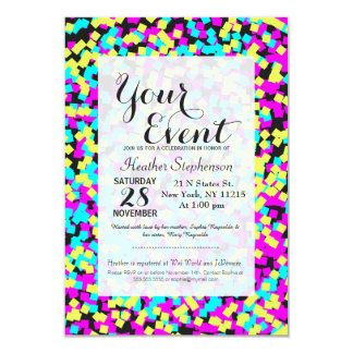 Neon Multi-Colored Fun Confetti Card