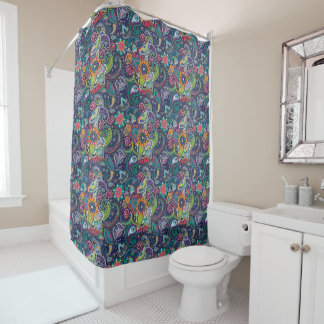 Neon Multicolor floral Paisley pattern