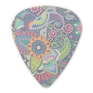 Neon Multicolor floral Paisley pattern Acetal Guitar Pick