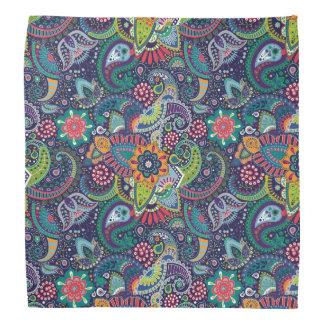 Neon Multicolor floral Paisley pattern Bandana
