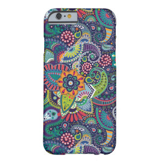 Neon Multicolor floral Paisley pattern Barely There iPhone 6 Case