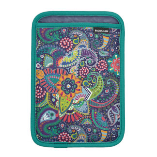 Neon Multicolor floral Paisley pattern iPad Mini Sleeve
