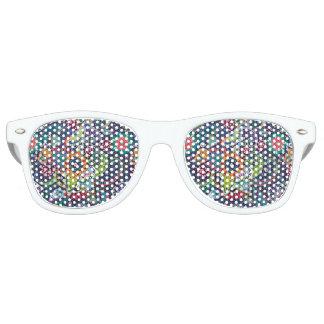 Neon Multicolor floral Paisley pattern Retro Sunglasses