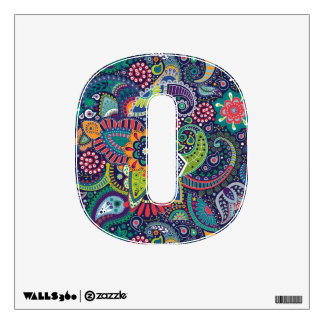 Neon Multicolor floral Paisley pattern Wall Sticker