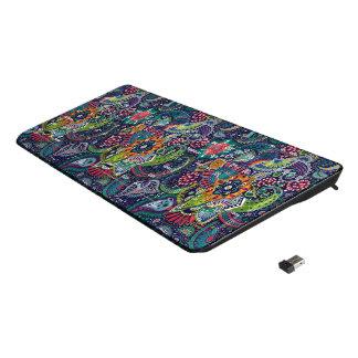 Neon Multicolor floral Paisley pattern Wireless Keyboard