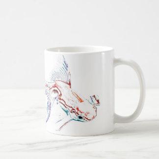 Neon Multicolor Rainbow Fish/Goldfish/Koi Coffee Mug