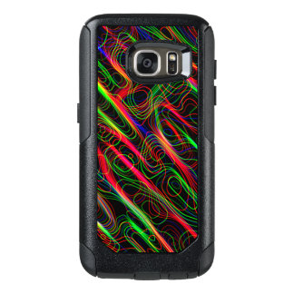 Neon Multicolored Curved Lines OtterBox Samsung Galaxy S7 Case