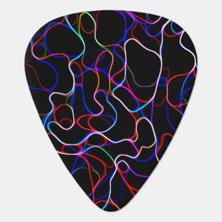 Neon Multicolored Curvy Line Pattern -COOL Guitar Pick