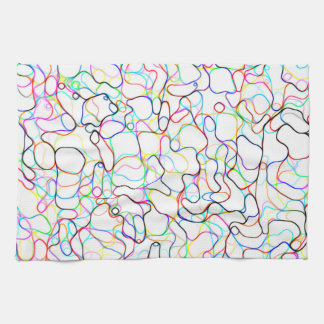 Neon Multicolored Curvy Line Pattern -COOL Kitchen Towel