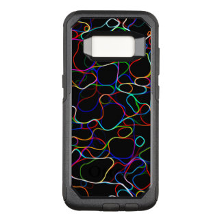 Neon Multicolored Curvy Line Pattern -COOL OtterBox Commuter Samsung Galaxy S8 Case
