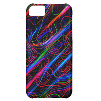 Neon Multicolored Curvy Lines -COOL iPhone 5C Cases