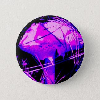 Neon Mushroom 2 Inch Round Button