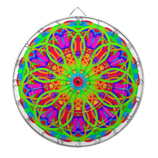 Neon Nation Mandala Design Dartboard